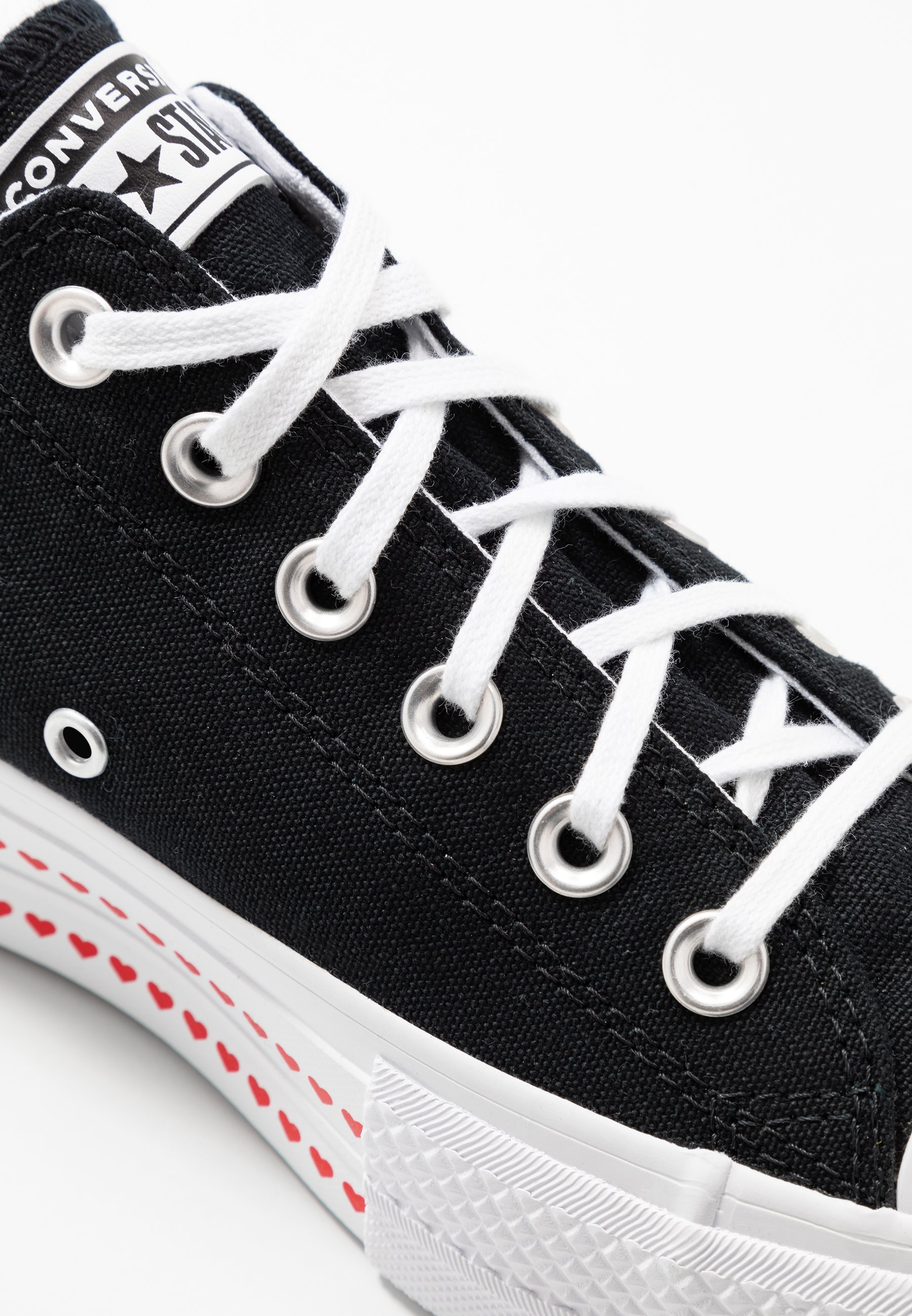 Converse CHUCK TAYLOR ALL STAR LIFT LOVE - Sneakersy niskie - black/university red/white