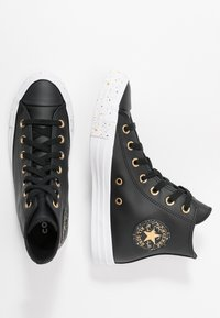 Converse - CHUCK TAYLOR ALL STAR SPECKLED - Korkeavartiset tennarit - black/gold/white - 3