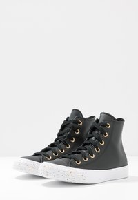 Converse - CHUCK TAYLOR ALL STAR SPECKLED - Korkeavartiset tennarit - black/gold/white - 4