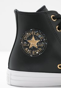Converse - CHUCK TAYLOR ALL STAR SPECKLED - Korkeavartiset tennarit - black/gold/white - 2