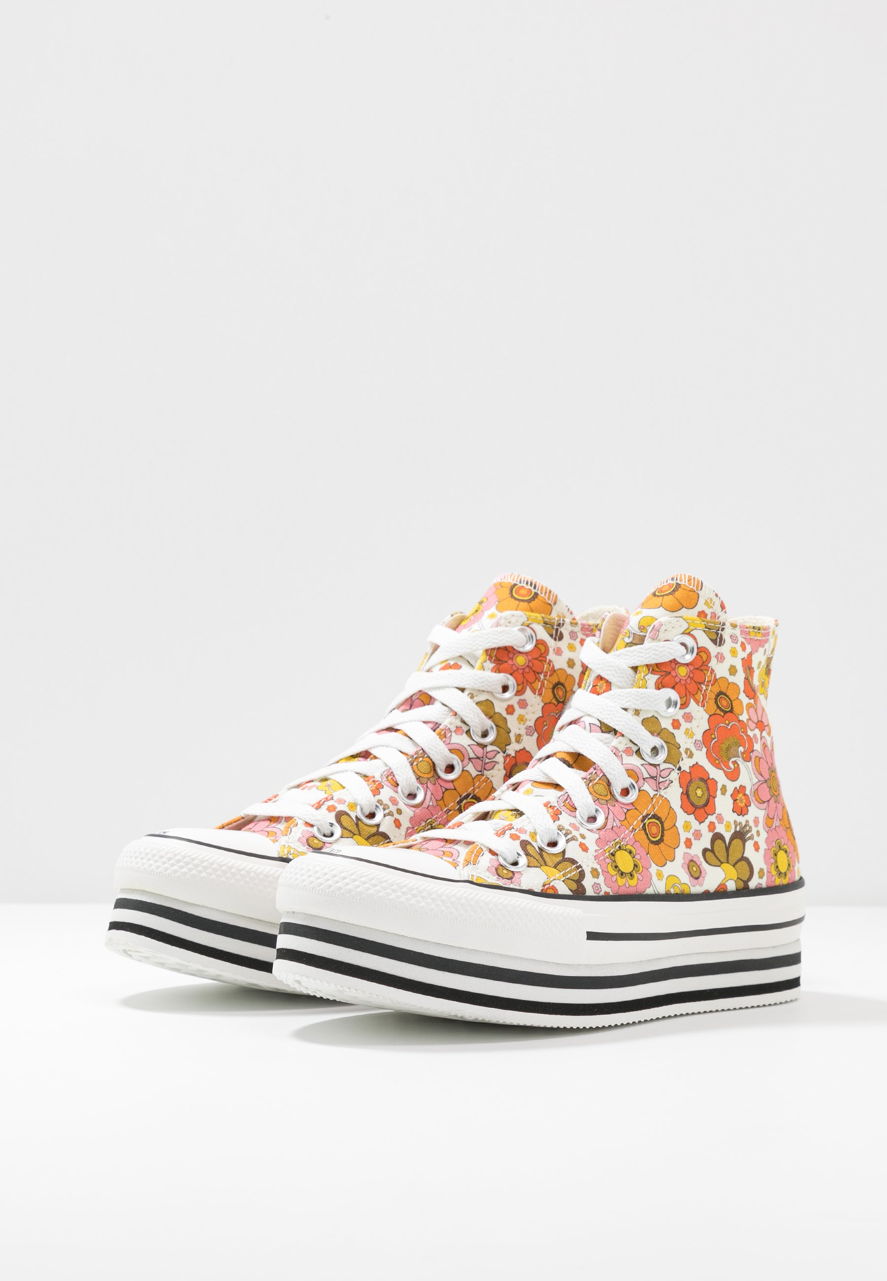Converse CHUCK TAYLOR ALL STAR LAYER BOTTOM - Sneakers alte - egret/vermilion red/field surplus 8hj90p0R