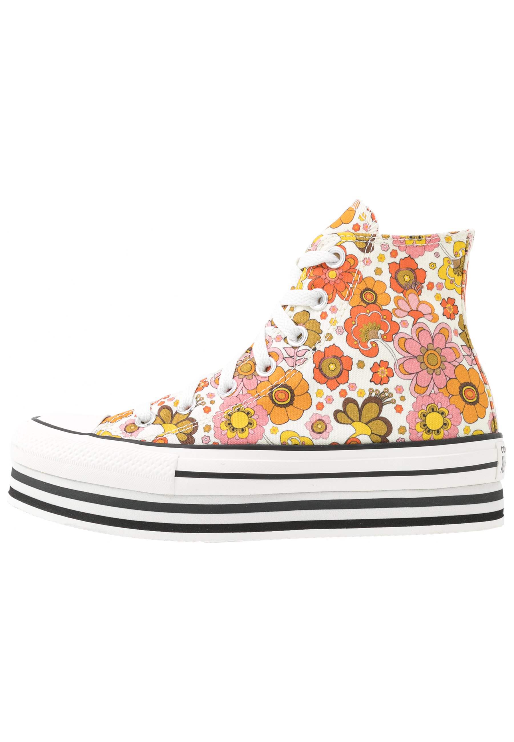 Converse CHUCK TAYLOR ALL STAR LAYER BOTTOM - Sneakers alte - egret/vermilion red/field surplus