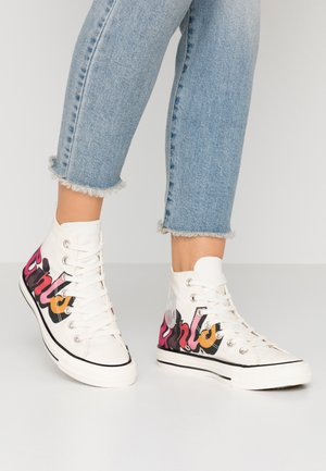 CHUCK TAYLOR ALL STAR - Korkeavartiset tennarit - egret/black