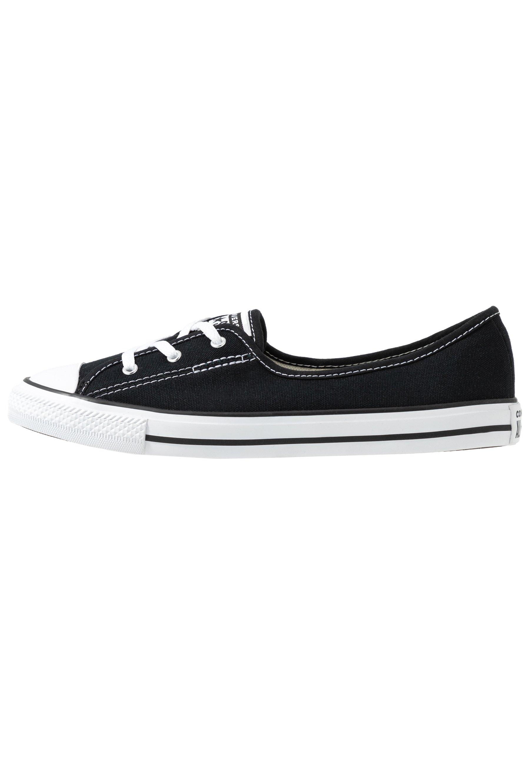 Converse CHUCK TAYLOR ALL STAR BALLET LACE - Półbuty wsuwane - black/white