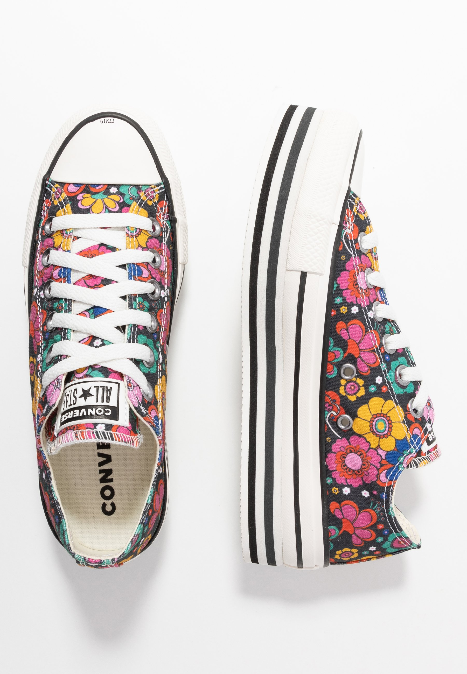 Converse CHUCK TAYLOR ALL STAR LAYER BOTTOM - Sneakers - black/peony/university red