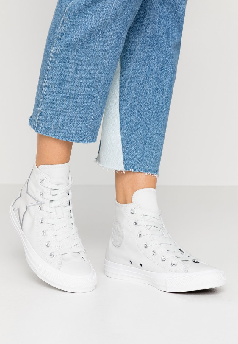 Converse - CHUCK TAYLOR ALL STAR PATCH - Høye joggesko - photon dust/silver/white