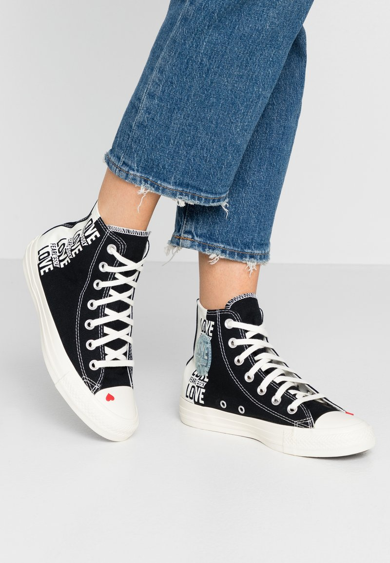 Converse - CHUCK TAYLOR ALL STAR - Høye joggesko - black/egret/university red
