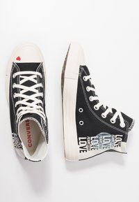 Converse - CHUCK TAYLOR ALL STAR - Høye joggesko - black/egret/university red - 3