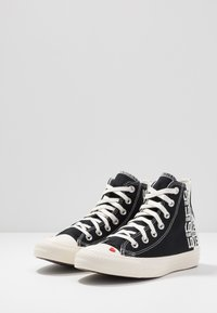 Converse - CHUCK TAYLOR ALL STAR - Høye joggesko - black/egret/university red - 4