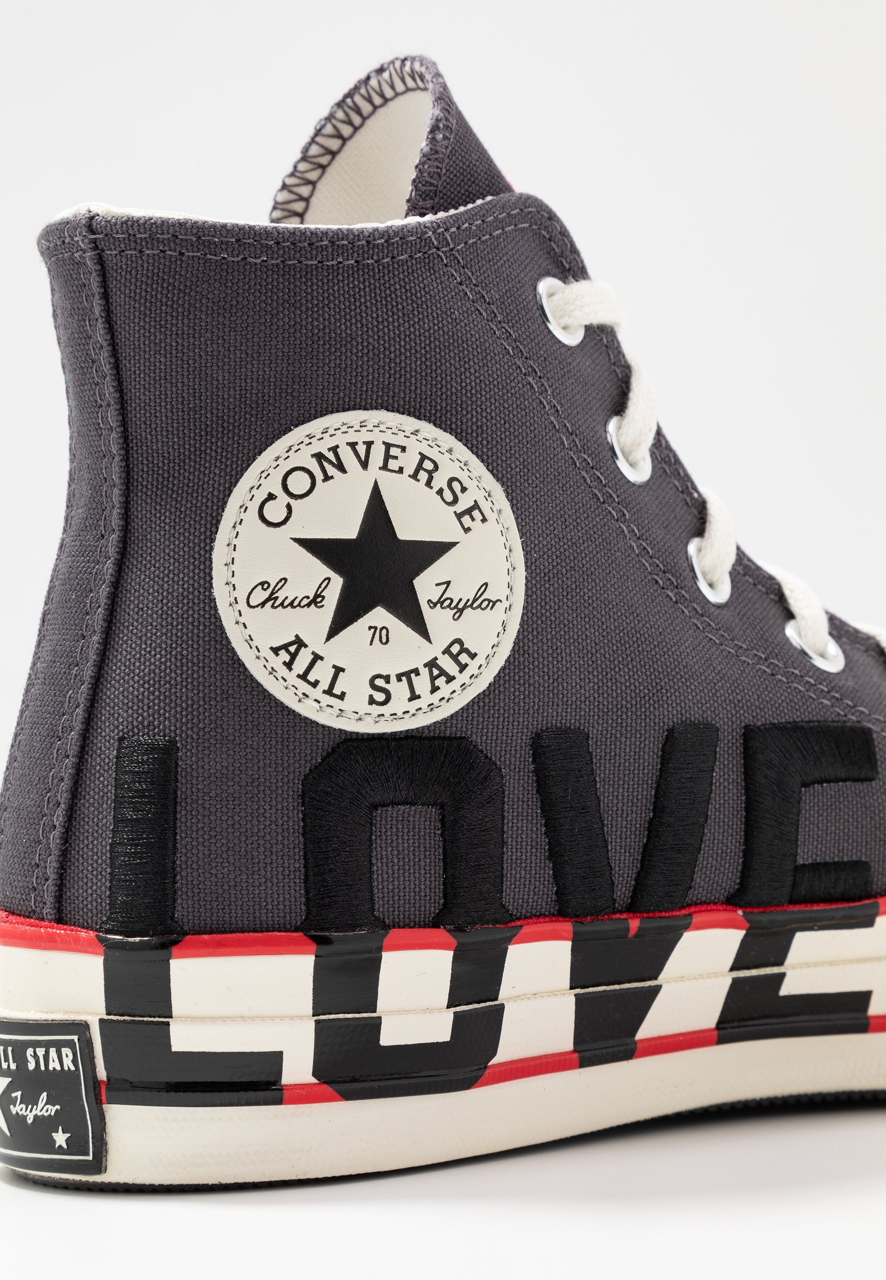 Converse CHUCK 70 - Sneakersy wysokie - thunder grey/university red/egret