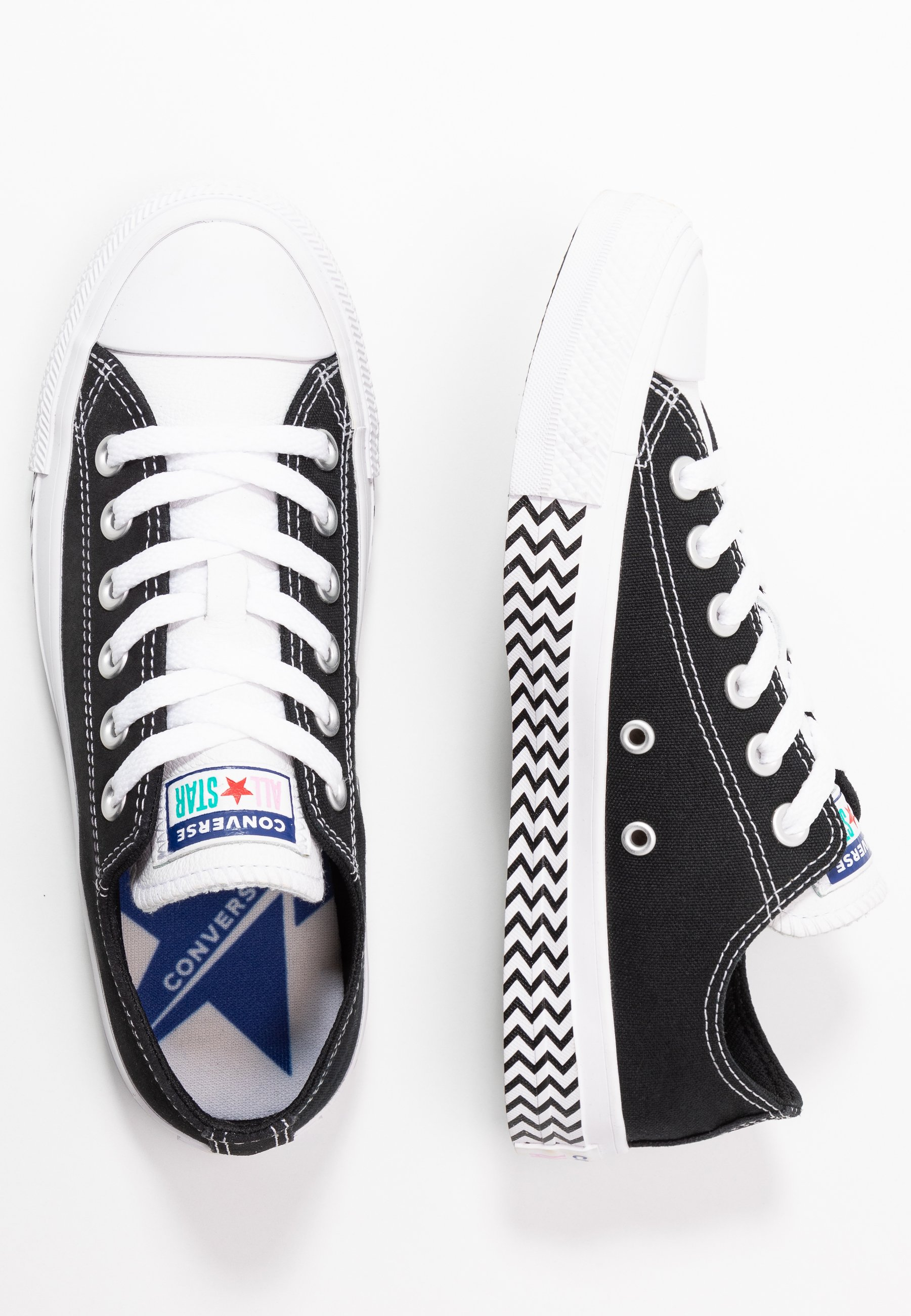 Converse CHUCK TAYLOR ALL STAR - Sneakersy niskie - black/white/university red