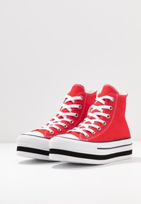 Converse - CHUCK TAYLOR ALL STAR LAYER BOTTOM - Høye joggesko - university red/white/black - 4
