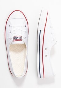 Converse - CHUCK TAYLOR ALL STAR BALLET LACE - Trainers - white/garnet/navy - 3