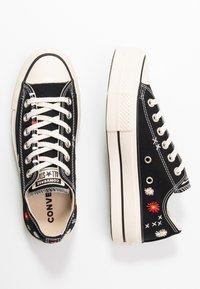 Converse - CHUCK TAYLOR ALL STAR LIFT - Joggesko - black/natural ivory - 3