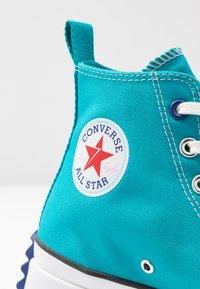 Converse - RUN STAR HIKE - Høye joggesko - rapid teal/rush blue/white - 2