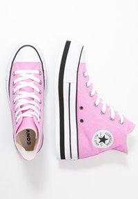 Converse - CHUCK TAYLOR ALL STAR LAYER BOTTOM - Høye joggesko - peony pink/white/black - 3