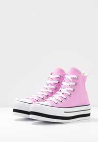 Converse - CHUCK TAYLOR ALL STAR LAYER BOTTOM - Høye joggesko - peony pink/white/black - 4