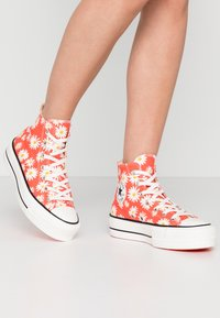 Converse - CHUCK TAYLOR ALL STAR LIFT - Sneakers hoog - red/white/yellow - 0