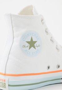 Converse - CHUCK TAYLOR ALL STAR - Høye joggesko - white/street sage/agate blue - 2