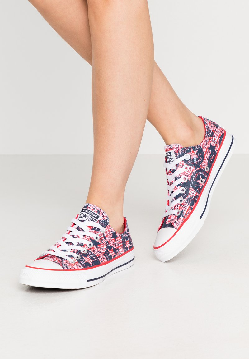 Converse - CHUCK TAYLOR ALL STAR - Trainers - university red/white/obsidian