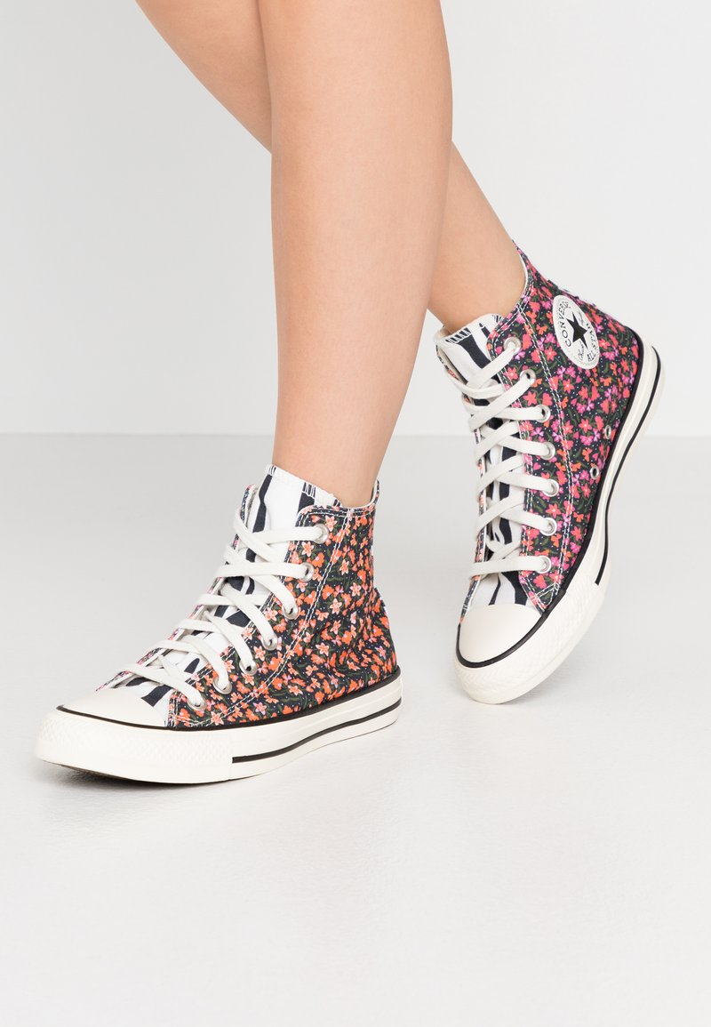 Converse - CHUCK TAYLOR ALL STAR - Sneakers hoog - egret/pink/green
