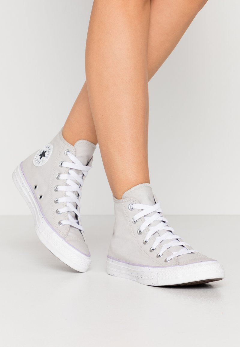 Converse - CHUCK TAYLOR ALL STAR - Sneakers hoog - mouse/white/moonstone violet
