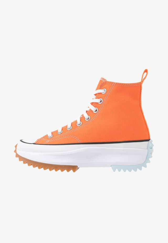 RUN STAR HIKE - Vysoké tenisky - total orange/white/agate blue