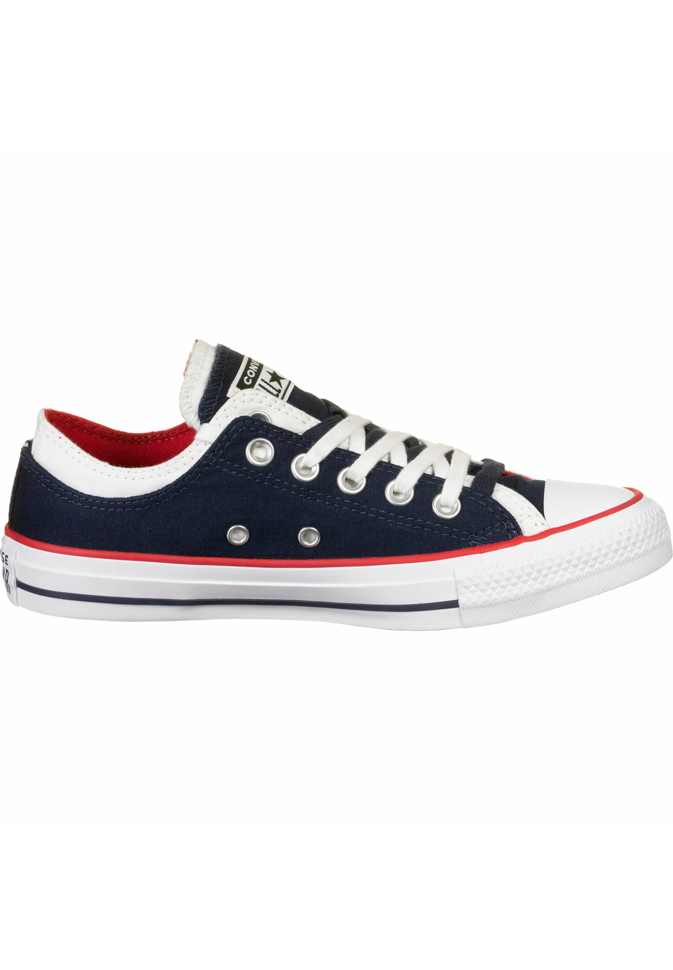 Converse Double Upper Ox - Baskets Basses Obsidian/white