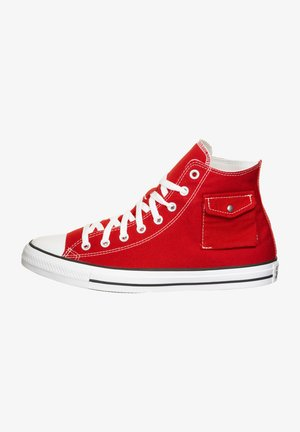 High-top trainers - red/white
