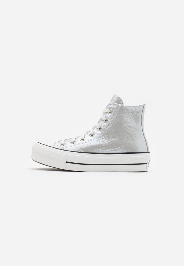 CHUCK TAYLOR ALL STAR LIFT - Sneakers high - silver/egret/black