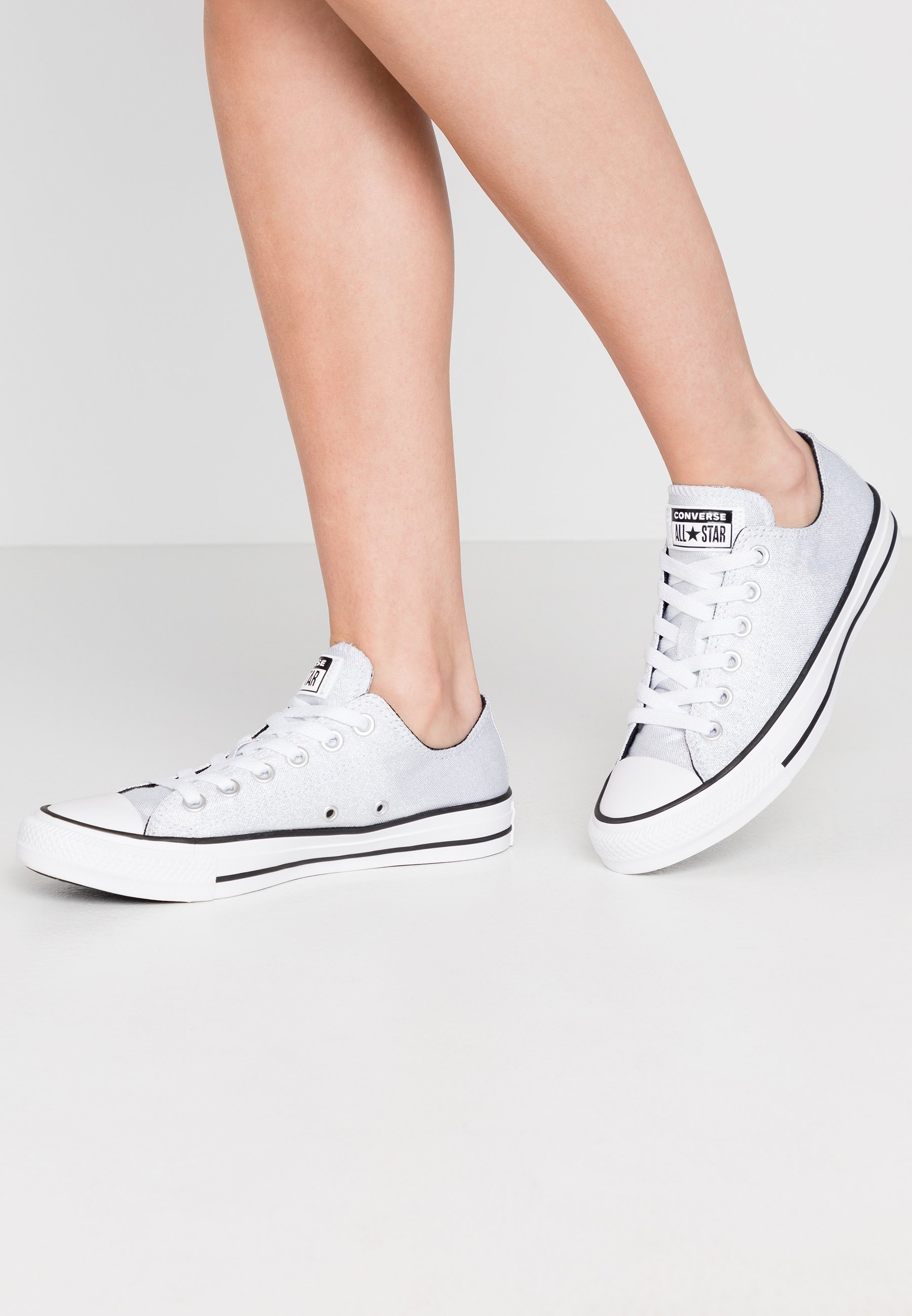 Details zu Converse All Star Chuck Taylor Sneakers Silver Glitter Sparkle Womens 13 Shoes