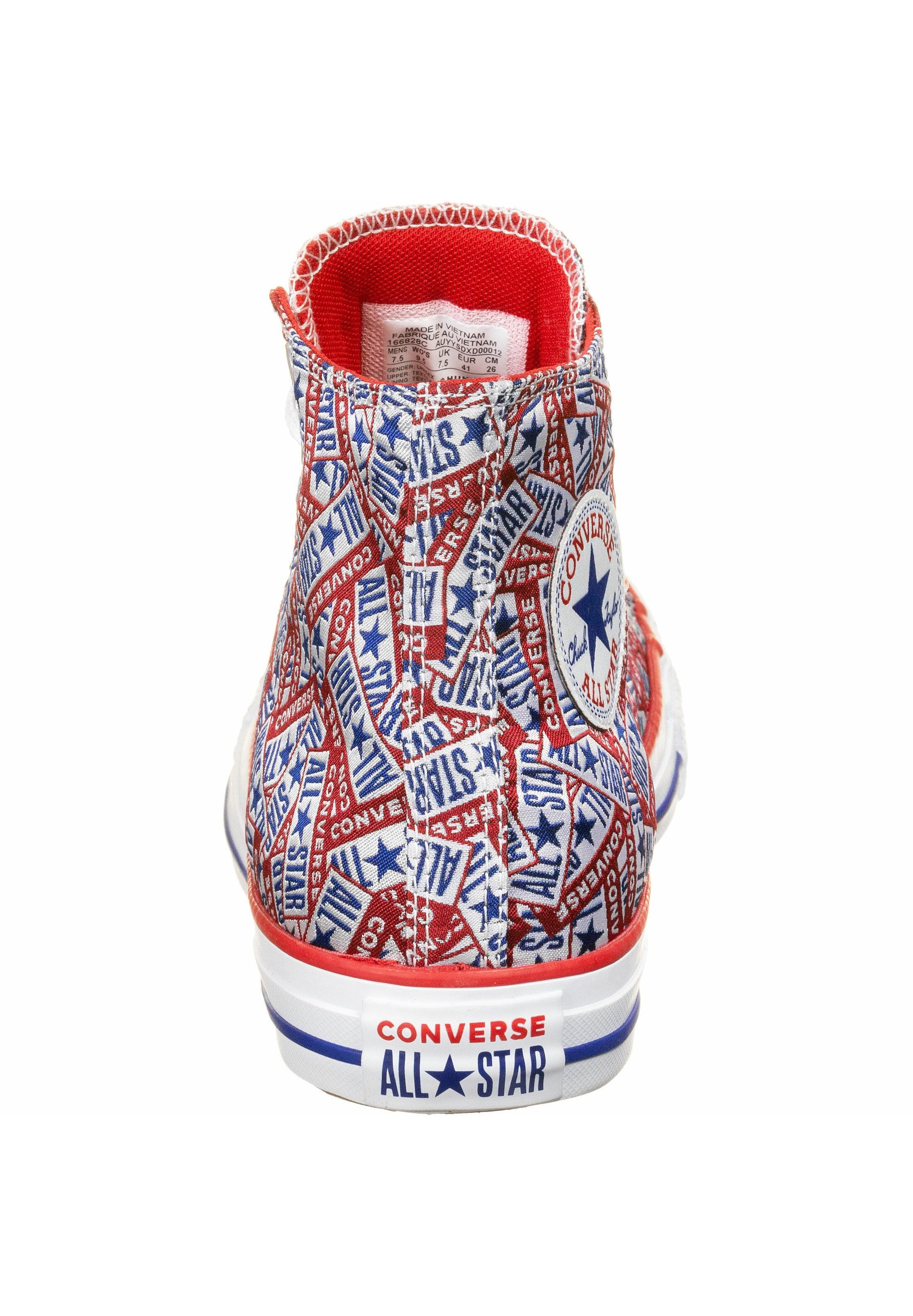 Converse Sneakers Hoog - Red/white/blue DWHlCKr