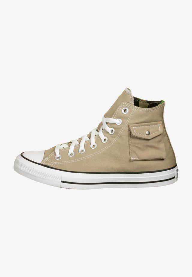 Sneakers hoog - khaki/black