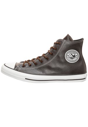 CONVERSE CHUCK TAYLOR ALL STAR ARCHIVAL TUMBLED LEATHER HI SNEAK - Sneakers hoog - velvet brown/campfire orange