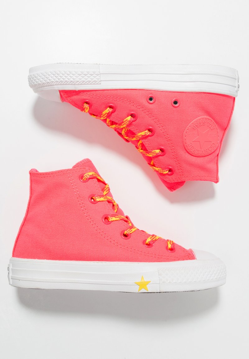 Converse - CHUCK TAYLOR ALL STAR - Sneakers alte - racer pink/fresh yellow/white