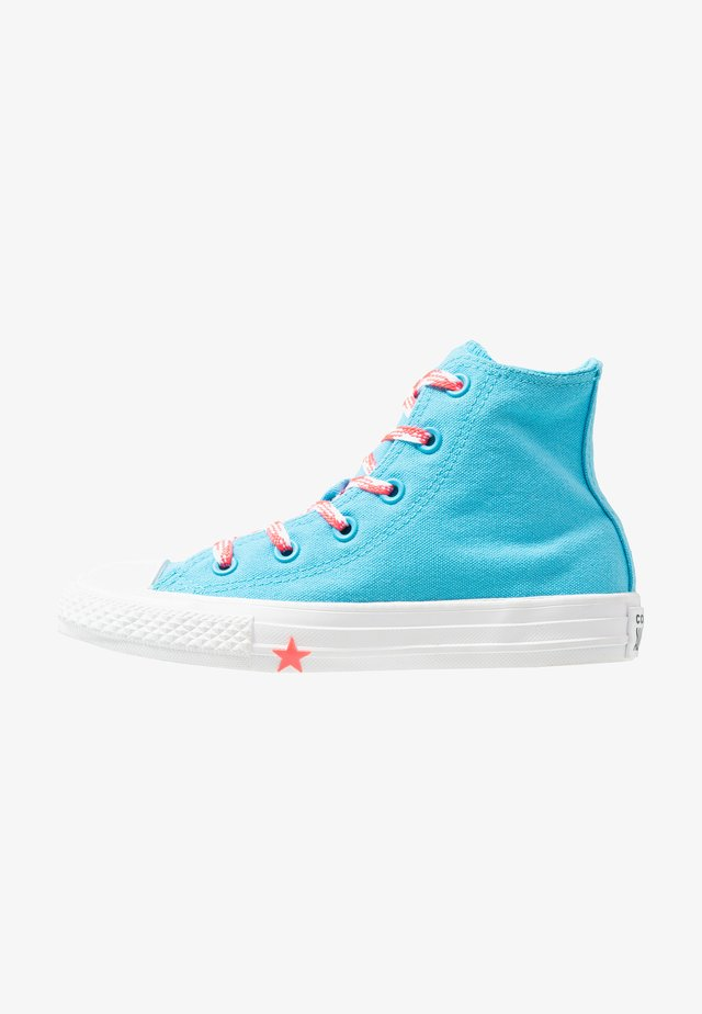 CHUCK TAYLOR ALL STAR - Høye joggesko - gnarly blue/racer pink/white