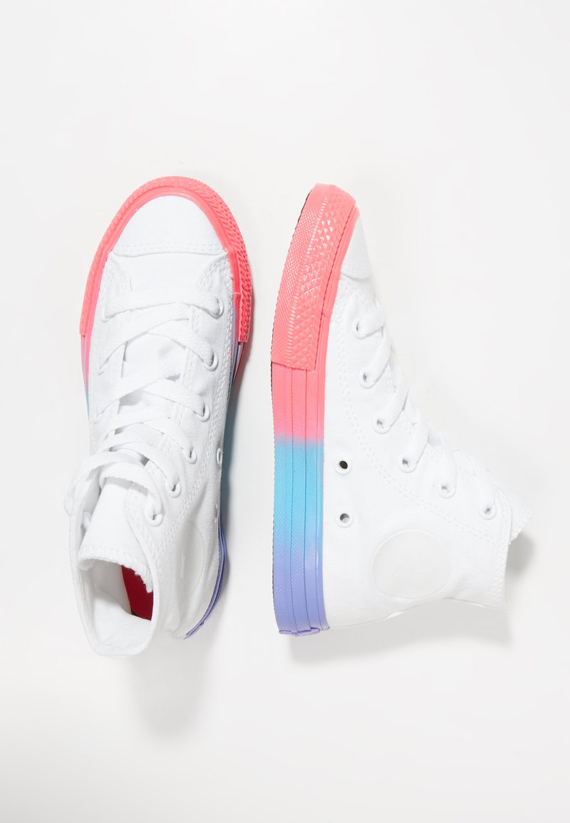 Converse - CHUCK TAYLOR ALL STAR - Höga sneakers - white/racer pink/black