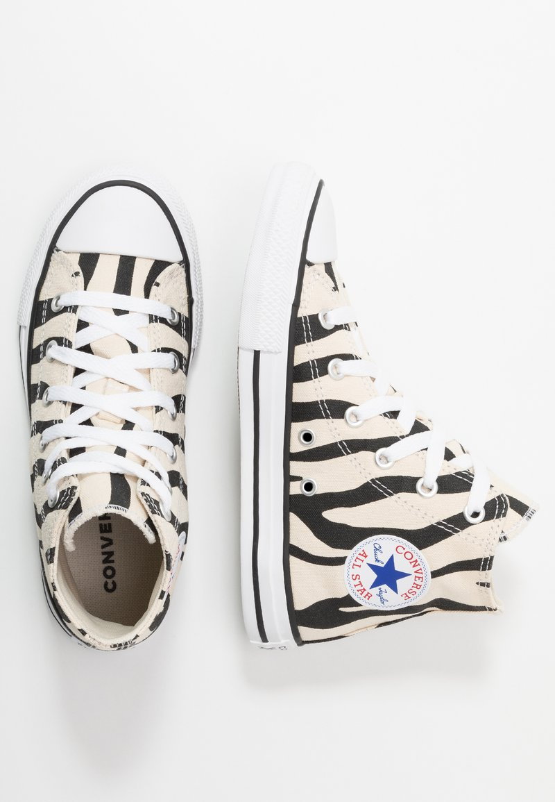 Converse - CHUCK TAYLOR ALL STAR ZEBRA PRINT  - Sneakers high - black/greige/white