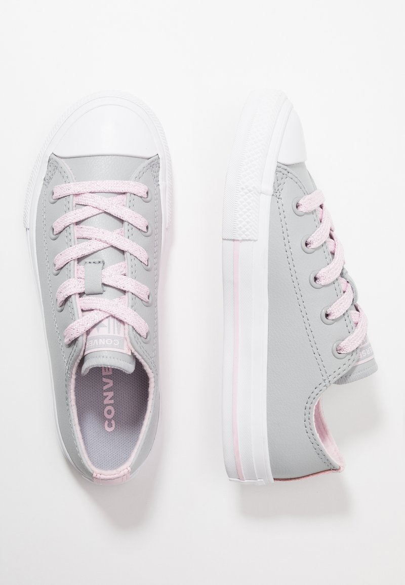 Converse - CHUCK TAYLOR ALL STAR SPARKLE LACE - Sneakers laag - wolf grey/pink foam/white