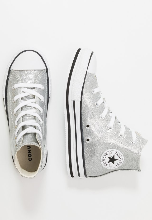 CHUCK TAYLOR ALL STAR PLATFORM  - High-top trainers - silver/white/black