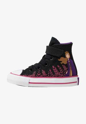 CHUCK TAYLOR ALL STAR FROZEN - Korkeavartiset tennarit - black/cherries jubilee/white