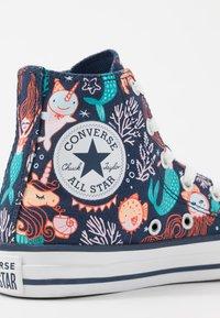 Converse - CHUCK TAYLOR ALL STAR MERMAID - Korkeavartiset tennarit - navy/rapid teal/white - 2