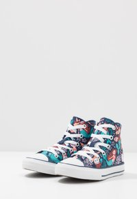 Converse - CHUCK TAYLOR ALL STAR MERMAID - Sneakersy wysokie - navy/rapid teal/white - 3