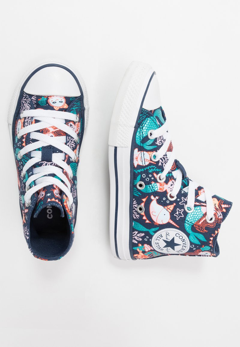 Converse - CHUCK TAYLOR ALL STAR MERMAID - Sneakersy wysokie - navy/rapid teal/white