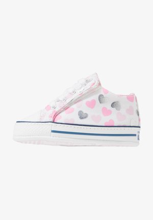 CHUCK TAYLOR ALL STAR HEARTSFALL CRIBSTER - First shoes - white/cherry blossom/silver