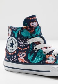 Converse - CHUCK TAYLOR ALL STAR MERMAID - Zapatillas altas - navy/rapid teal/white - 2