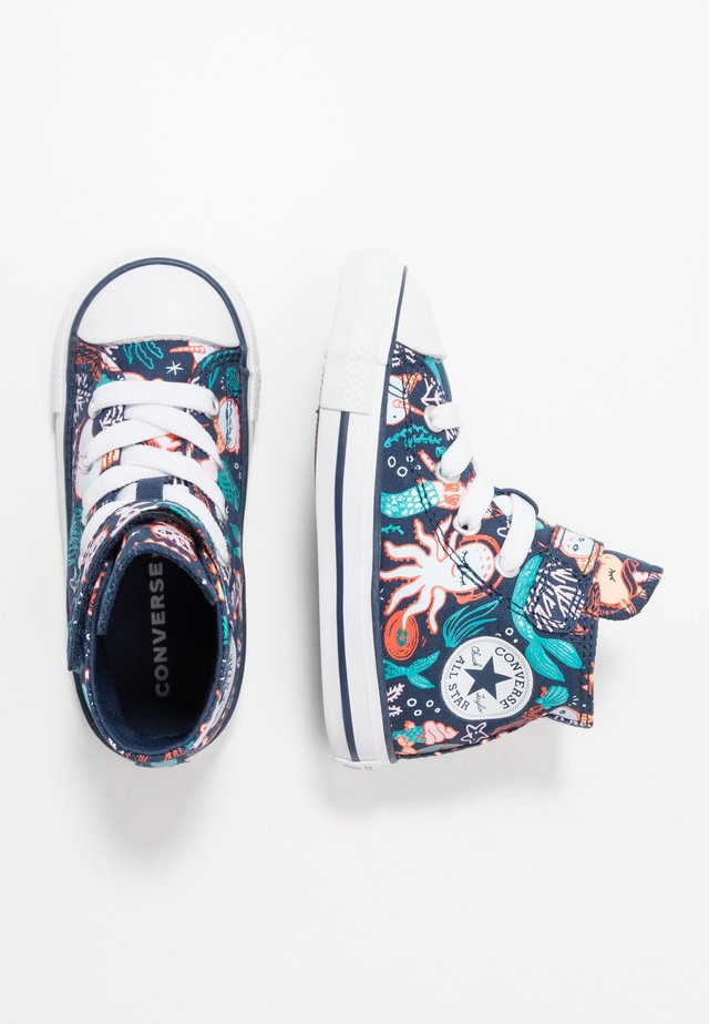 CHUCK TAYLOR ALL STAR MERMAID - Høye joggesko - navy/rapid teal/white