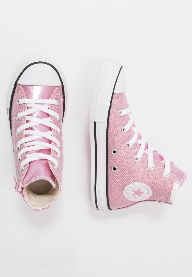 Converse - CHUCK TAYLOR ALL STAR SIDE ZIP - Korkeavartiset tennarit - cherry blossom/white