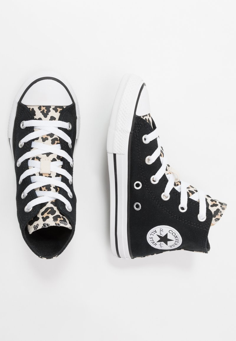 Converse - CHUCK TAYLOR ALL STAR LEOPARD PRINT - Sneakers alte - black/driftwood/white