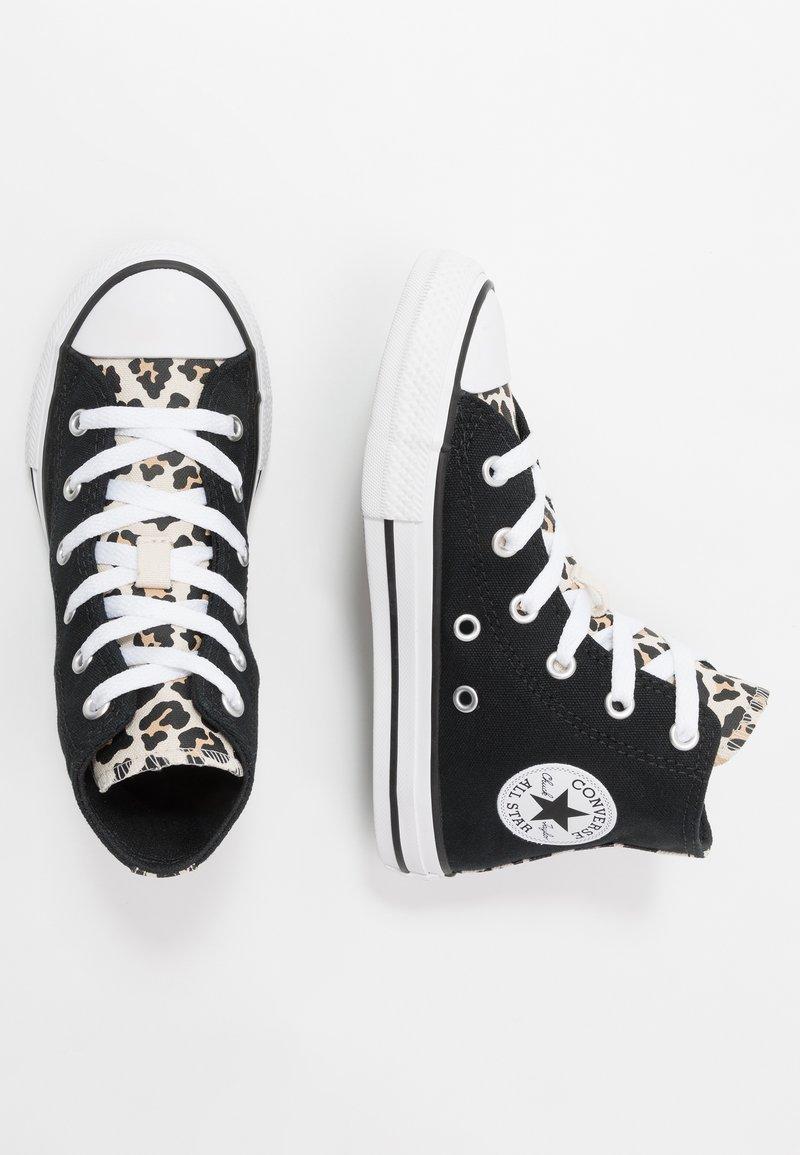 Converse - CHUCK TAYLOR ALL STAR LEOPARD PRINT - Høye joggesko - black/driftwood/white